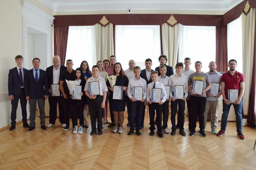Награждение Департаментом по физической культу-ре, спорту и молодёжной политике Ярославской об-