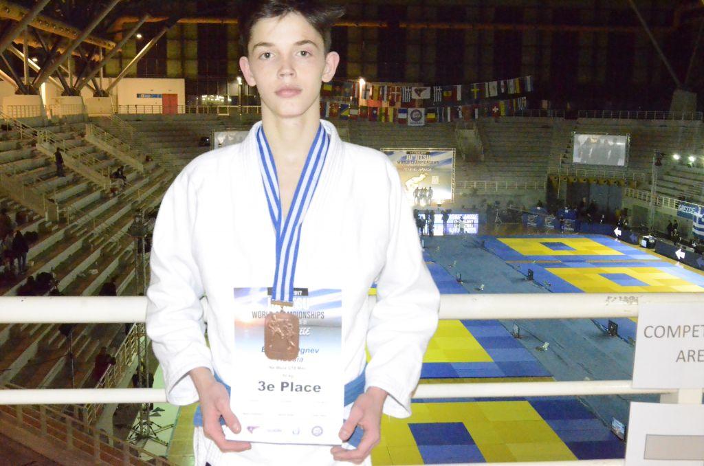 Поздравляем Богдана Огнева, завоевавшего бронзу Чемпионата Мира по джиу-джитсу среди аспирантов